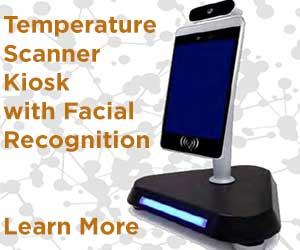 Temperature Scanner Kiosk with Fascial Recognition