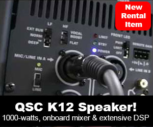 New Rental Item - QSC K12 Speaker !