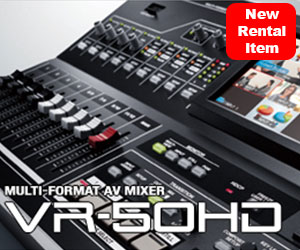 New Rental Item Meet the Roland VR50HD Live Event Switcher Streamer