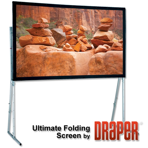 Draper 241326 Ultimate Folding Projection Screen with Extra Heavy Duty Legs (97 x 152)