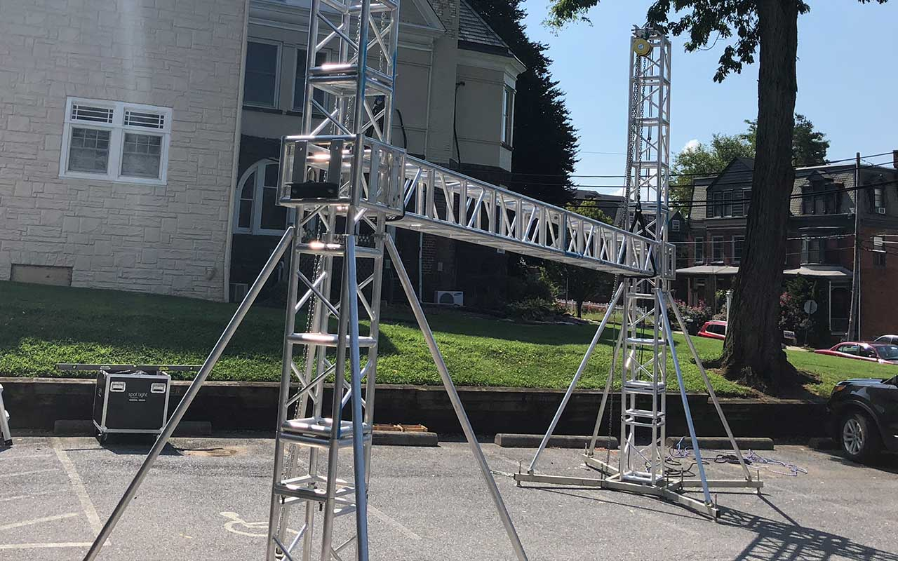 Ground Support Tower System 16 Inch Box Truss
