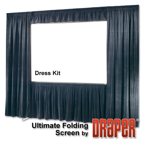 Draper 242222 Ultimate Folding Screen Dress Kit with Case - (112 x 196)