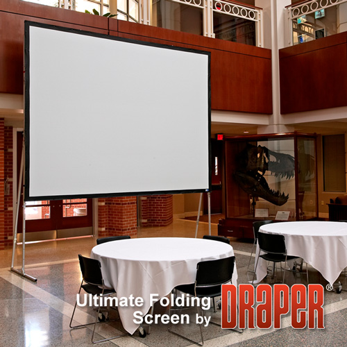 Draper 241309 Ultimate Folding Projection Screen with Heavy Duty Legs (83 x 130)
