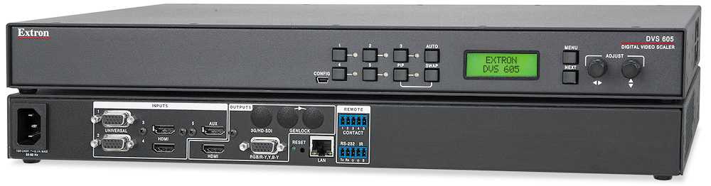 5-Input HDCP-Compliant Scaler with Seamless Switching