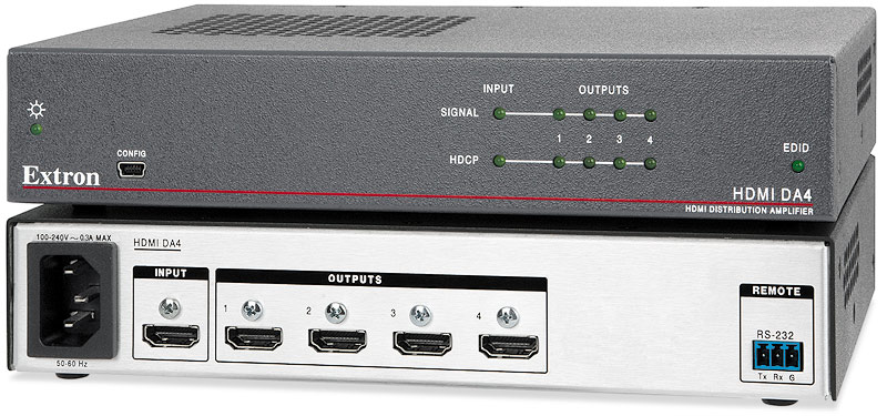 1-to-4 HDMI Distribution Amplifier