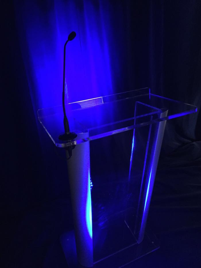 Acrylic Podium With Microphone