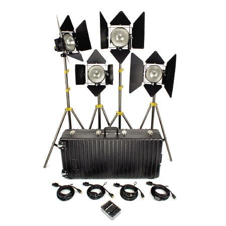 Lowel (4) DP Light Kit (1000W w/ Stands)