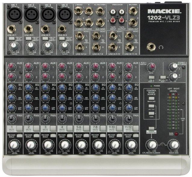 4 Mic Input + 4 Stereo Input / 4-Output Mixer