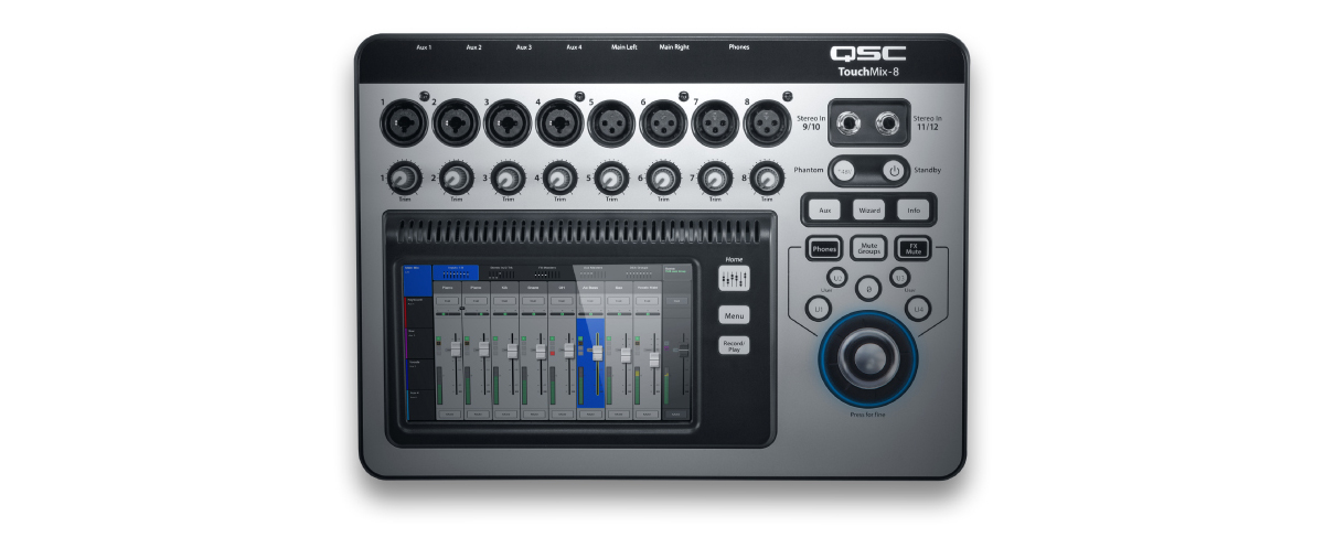 QSC TouchMix-8 8 Channel Digital Audio Mixer