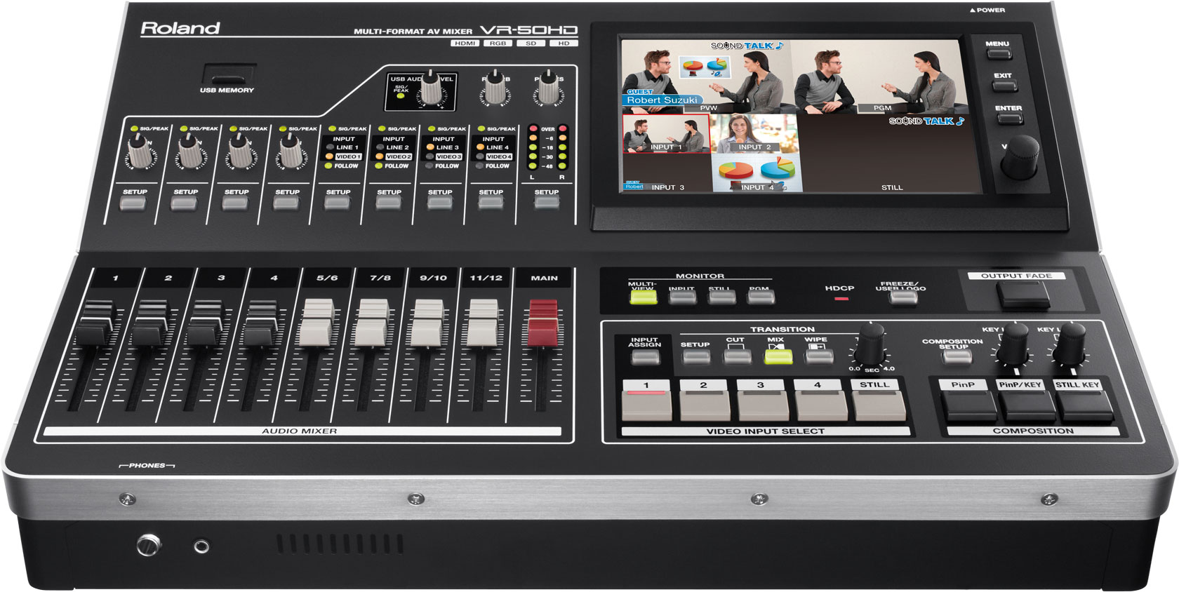 Roland VR-50HD: Live Event Multi-Format AV Switcher